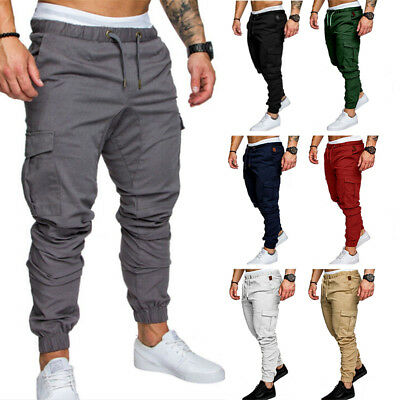 Responsible 5 Styles Hot New Fashion Mens Slim Fit Urban Straight Leg Trousers Casual Pencil Jogger Cargo Leg Pants Choice Materials Men's Clothing
