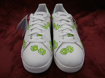 Reebok Ice Cream  BOUTIQUES Green Dice size 10  Pharrell white shoes   DEADSTOCK 3383ebada