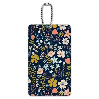 Mimi Flowers Floral Pattern Luggage Card Suitcase Carry-On ID Tag