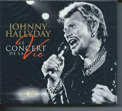 Johnny Hallyday Le concert de sa vie  Coffret 3 CD + 1 DVD Neuf sous cellophane