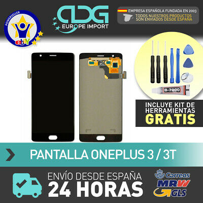"Pantalla LCD +Tactil OLED One Plus 3 one plus three 5.5"" con MARCO / FRAME. 24H"