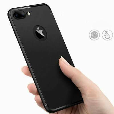For iPhone 8 Plus Black Silicone Slim Soft Gel Case Cover TPU Shockproof Case