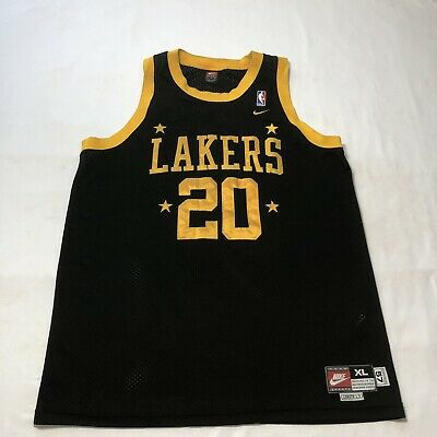 893af99f650 VTG Rare Nike NBA L.A. Lakers Throwback Jersey Gary Payton #20 Size Adult  XLarge