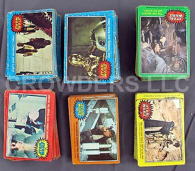 Star Wars 1977 Bubble Gum Trading Cards Incomplete Set w/ Duplicates Large Lot!!