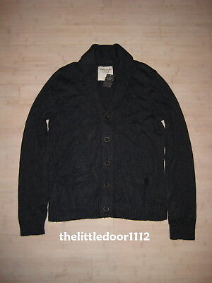 NWT Abercrombie NAVY Guys Jacket Shirt Button Front Sweater Shawl Cardigan  Top M 5876233f8