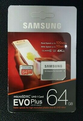 Samsung Memory 64GB EVO Plus Micro SD card with Adapter and warranty+UK Seller