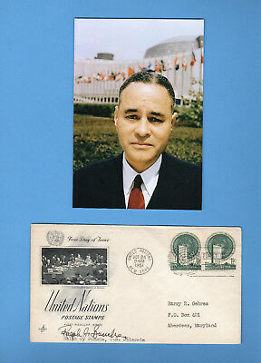 Ralph Bunche (United Nation Under General / Nobel Peace Prize)Signed UN 1951 FDC