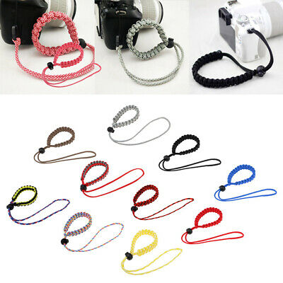 Adjustable Braided Paracord Camera Wrist Strap Emergency Carry Hand Lanyard