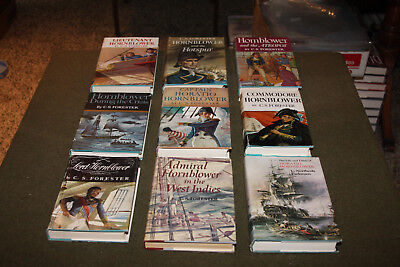 Lot of 9 C.S. Forester Horatio Hornblower Hardcovers w/ DJ
