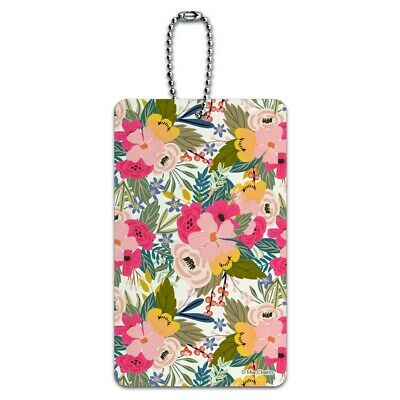 Softly Flowers Floral Pattern Luggage Card Suitcase Carry-On ID Tag