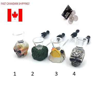 1 pc Portable Mini Glass Resin Tube Pipe Smoking Herb Tobacco + 5 Screens CANADA