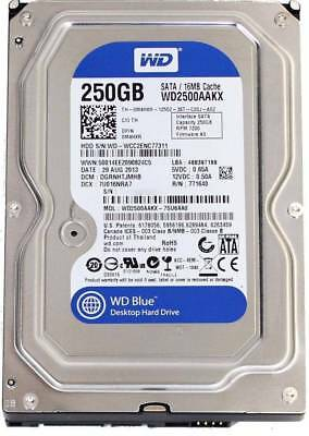 Western Digital 250Gb Blue HDD PC/Desktop 3.5 SATA Hard Disk Drive WD2500AAKX WD