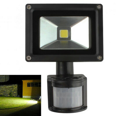 20W LED PIR Flood Light Motion Sensor Spotlight Garden Outdoor Lamp AC85-265V