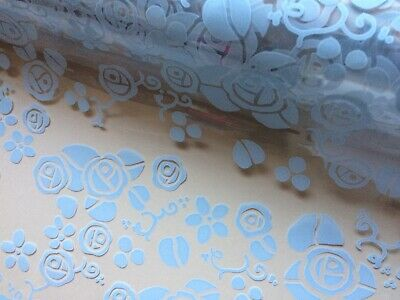 BIRTHDAY SUMMER MEADOW CELLOPHANE GIFT WRAP WITH BOW..80CM ..1//2//3////4//5 metres