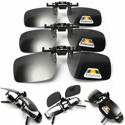 Polarized Lenses Flip-Up Clip On Sunglasses UV400 Driving Outdoor Glasses New