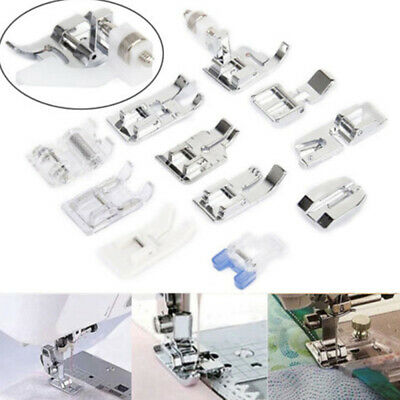 11Pcs Presser Foot Feet For Brother Singer Sewing Machine Accessory Tool Kit cvf