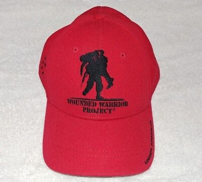 b3e1ebc2c3ed1 Under Armour Men s Red UA Wounded Warrior Project WWP Snapback Baseball Cap
