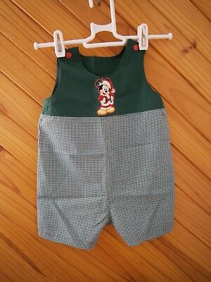 Australian Handmade Christmas Baby Boy Romper Green Size 3 To 6 Months