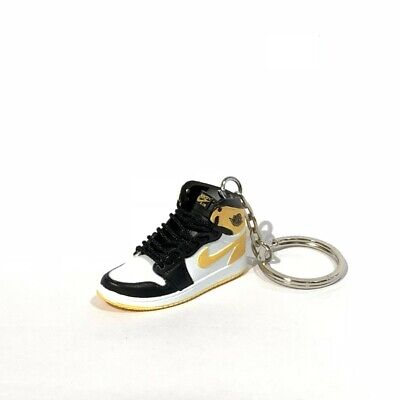 save off ce3fe 57c55 madxo   3D mini sneaker keychain Air Jordan 1 Retro YELLOW OCHRE 1 6 SCALE