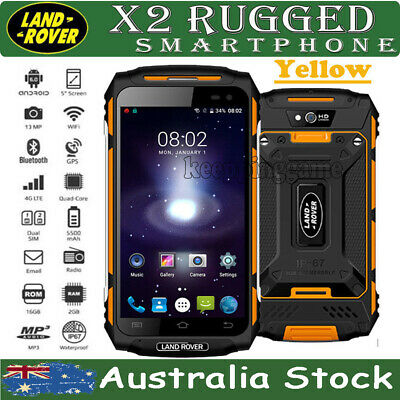 Unlocked 3G Smartphone LAND ROVER X2  Rugged Android MTK6737 Quad Core Mobile AU