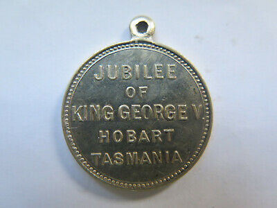 1910-1935 JUBILEE of KING GEORGE V HOBART TASMANIA MEDALET Almost UNCIRCULATED