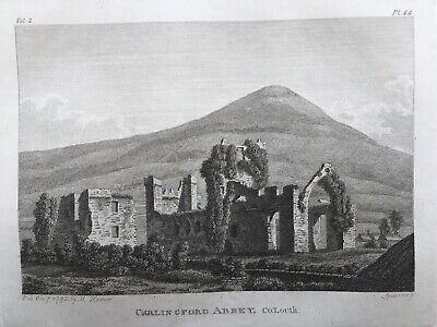 1792 Antique Print; Carlingford Abbey, Co. Louth, Ireland by Daniel Grose