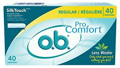 Ob Pro Comfort Tampons Regular 40 Count Each