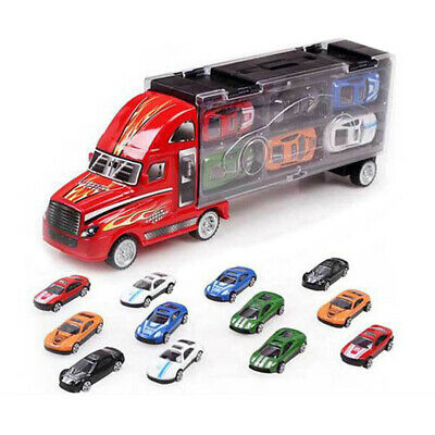 Car Model Transport Car Carrier Truck Toy for Boys Kids Children 6Pcs/set