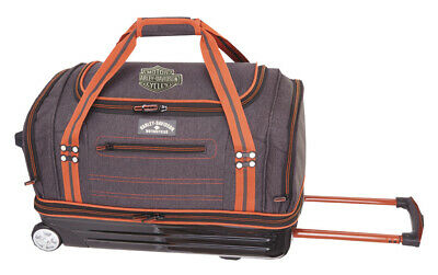 """Harley-Davidson® Semi-Molded 20"""" Rolling Pullman Carry-on Duffle Luggage 99121"""