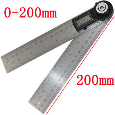 Stainless Steel Digital Protractor Angle Finder Ruler with Large LCD Display