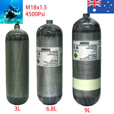4500Psi CE Certification 300bar Air Cylinder Carbon Fiber Tank For Fire Fighting