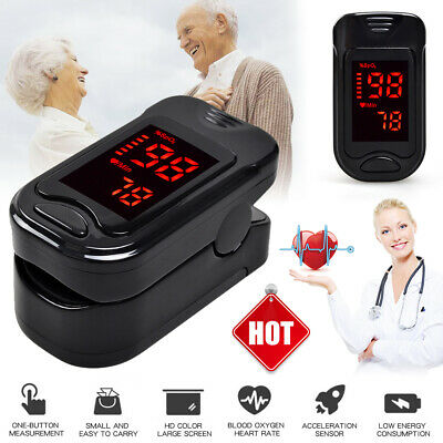 LED Finger Tip Pulse Oximeter Oximetry Blood Oxygen Monitor SPO2 PR Heart Rate