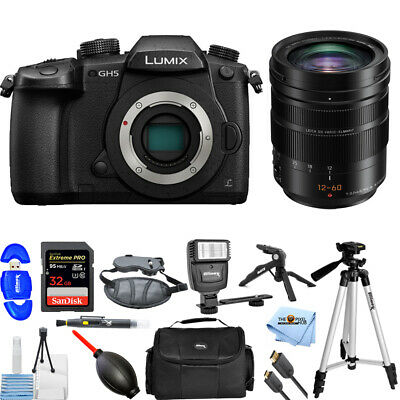 Panasonic Lumix DC-GH5 Mirrorless Micro 4/3 W/ Leica DG Vario 12-60mm PRO BUNDLE