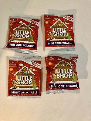 COLES Little Shop Minis*CHRISTMAS EDITION*4 X Unopened Packs