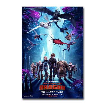 How to Train Your Dragon 3 Movie Art Silk Poster Print 24x36inch Wall Home Decor