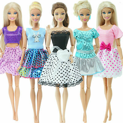 Pink Night Robe Mini Dress Housecoat Pajamas Clothes For 12 in. Doll Accessories