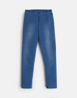 Joules Girls Minnie Jersey Trousers in DENIM
