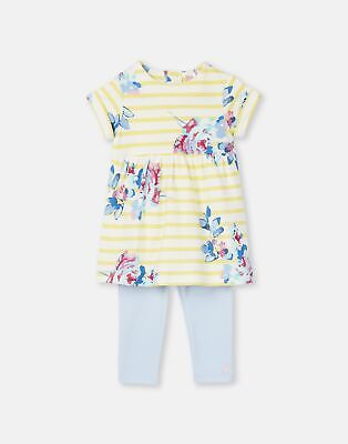 Joules Sale 204667 Dress And Legging Set in MARGATE FLORAL STRIPE