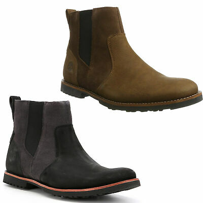 Mens Timberland Kendrick Zip Up Leather Chelsea Ankle Boots Sizes 6.5 to 12.5