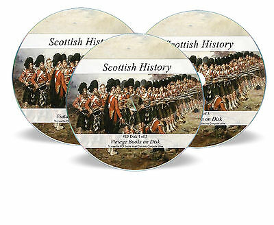 Scottish History Ancestry 652 Rare Books 3  DVDs - Scotland Family Genealogy E5