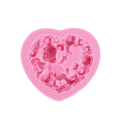 Rose Angel Art Silicone Soap Mold 3D Craft Molds Fimo Resin Clay Molds Tool UK