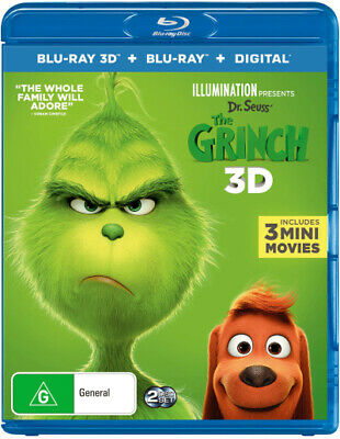 The Grinch 3D (Dr. Seuss') (2018) (Blu-ray 3D/Blu-ray/  - BLU-RAY - NEW Region B