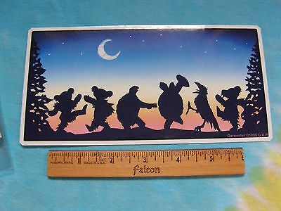 Grateful Dead Dancing Bears, Terrapins & Crow Moondance 4 x 8 Inch  Sticker