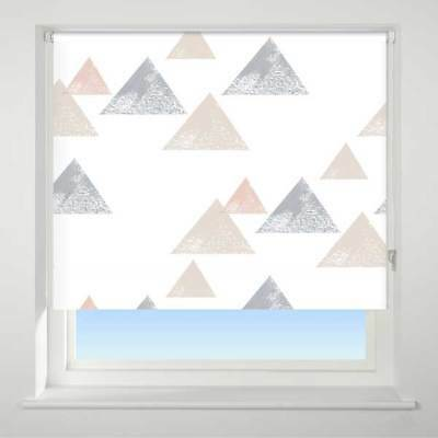 Universal Textured Triangle Patterned Thermal Blackout Roller Blind, Coral