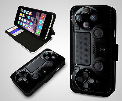 PlayStation Joystick Controller Game Console PS4 Leather Flip Phone Case Cover