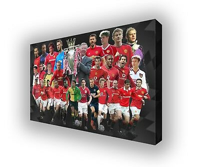 Manchester United - Premier League Heroes Wall Canvas Print Picture 100x63cm