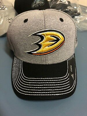 Anaheim Ducks Hat Cap NEW Gray Black One Size SnapBack Adidas Mens NHL  Mighty eb262931ce83