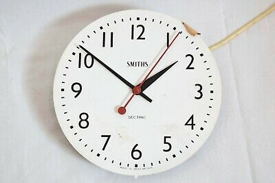 VINTAGE 1950s SMITHS SECTRIC ELECTRIC WALL CLOCK MOVEMENT AND DIAL