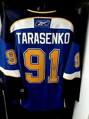 innovative design 303f7 eaf74 VLADIMIR TARASENKO SIGNED St. Louis Blues Jersey Rbk Nhl Autographed +Psa  Auth.