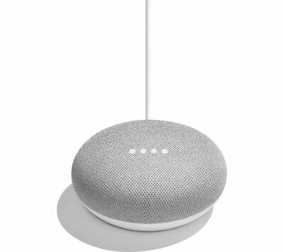 Google Home Mini Smart Speaker Chalk With Voice Assistants Bluetooth Wi-Fi